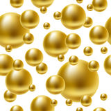 Golden balls seamless background. Stock Photography
