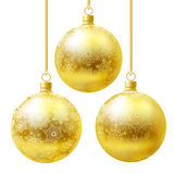 Golden balls set. Stock Images