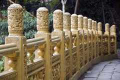 Golden Balustrade, Taiwan Stock Images