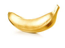 Golden banana. Stock Photos