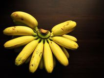 Golden bananas. Stock Images