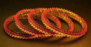 Golden bangles Stock Image