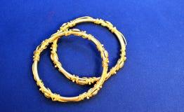 Golden bangles Stock Image