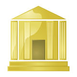 Golden bank Stock Photo