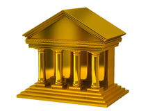 Golden bank building Royalty Free Stock Image