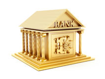 Golden bank building Royalty Free Stock Photos