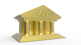 Golden Bank Illustration made in 3d Stock Photos