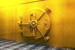 Golden bank vault Royalty Free Stock Images