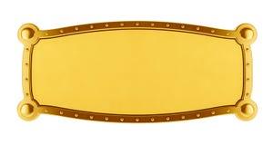 Golden Banner. 3d illustration of an antique golden banner Royalty Free Stock Images