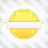 Golden banner Royalty Free Stock Photography