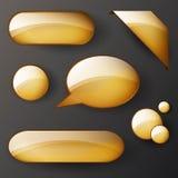 Golden banner Stock Photo