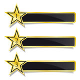 Golden banner stars Step by Step design Stock Photo