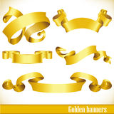 Golden banners Royalty Free Stock Photo