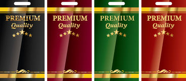 Golden banners premium quality Stock Photos