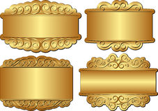 Golden banners Royalty Free Stock Photos