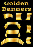 Golden Banners, Set Stock Photography