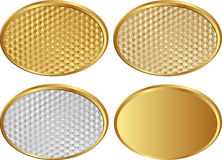 Golden banners. Set of golden banners - vector illustration Royalty Free Stock Photography