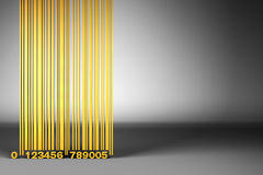 Golden Bar Code Stock Photo