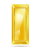 Golden bar with reflections Stock Image