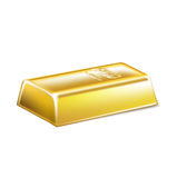 Golden bar  on white Stock Image