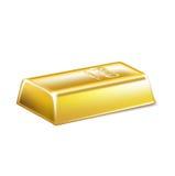 Golden bar  on white Stock Image