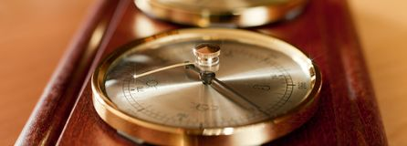 Golden barometer Stock Photos