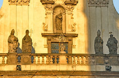 Golden Baroque colors in Prague Royalty Free Stock Photo