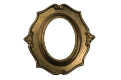 Golden Baroque Frame Background Stock Photo