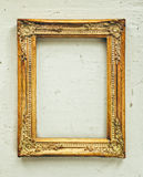 Golden baroque old frame Royalty Free Stock Image