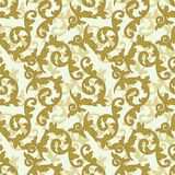 Golden baroque pattern Royalty Free Stock Image