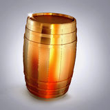 Golden  barrel  on a grey background. Stock Images