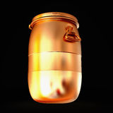 Golden  barrel isolated on a black background. Stock Images