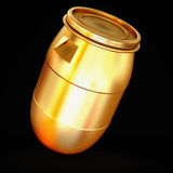 Golden  barrel isolated on a black background. Stock Photography