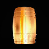 Golden  barrel isolated on a black background. Royalty Free Stock Images