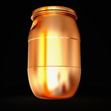 Golden  barrel isolated on a black background. Royalty Free Stock Photos