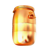 Golden barrel isolated on a white background. Royalty Free Stock Photography