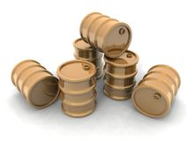 Golden Barrels Stock Photos