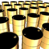 Golden barrels Stock Photo
