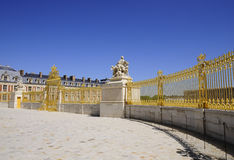 Golden barrier of the roual palace Stock Photography