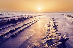 Golden Barrika beach royalty free stock image