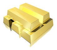 Golden bars Stock Image