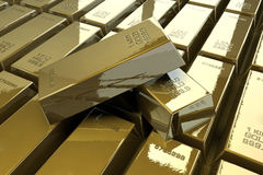 Golden bars royalty free stock photos