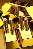 Golden Bars, ambient financial concept Stock Photography
