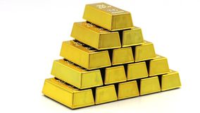 Golden bars as a background Financial concepts. Full hd video royalty free illustration