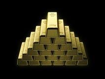 Golden bars Stock Photography