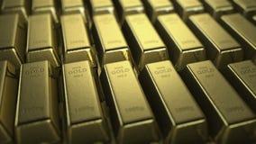 Golden bars camera animation stock video footage