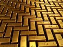 Golden bars Royalty Free Stock Image