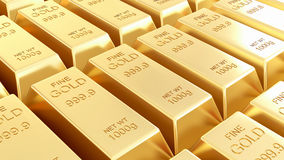 Golden bars isolated Royalty Free Stock Images