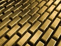 Golden bars Stock Images
