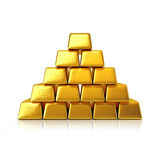 Golden bars pyramid Royalty Free Stock Image